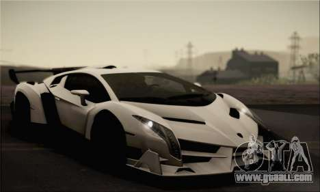 Lamborghini Veneno LP750-4 White Black 2014 for GTA San Andreas