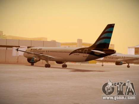 Airbus A320-214 Afriqiyah Airways for GTA San Andreas right view