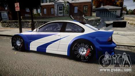 BMW M3 E46 GTR Most Wanted plate NFS ND 4 SPD for GTA 4 left view