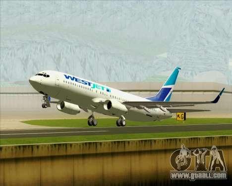 Boeing 737-800 WestJet Airlines for GTA San Andreas