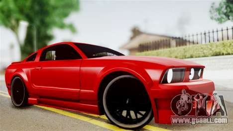 Ford Mustang GT 2012 for GTA San Andreas back left view