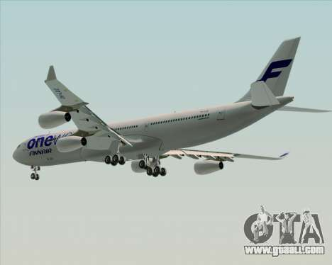 Airbus A340-300 Finnair (Oneworld Livery) for GTA San Andreas wheels