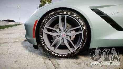 Chevrolet Corvette C7 Stingray 2014 v2.0 TireGY for GTA 4 back view