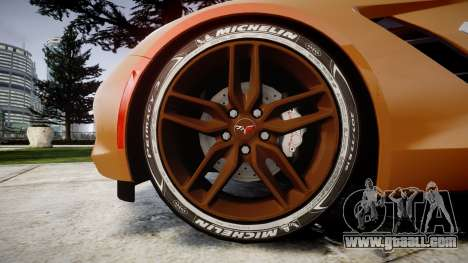 Chevrolet Corvette C7 Stingray 2014 v2.0 TireMi4 for GTA 4 back view