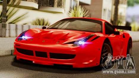 Ferrari 62 F458 2011 for GTA San Andreas upper view
