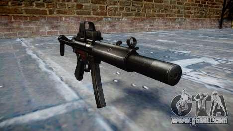 Gun MP5SD EOTHS FS b target for GTA 4