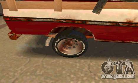 Ford PickUp Rusted for GTA San Andreas back view