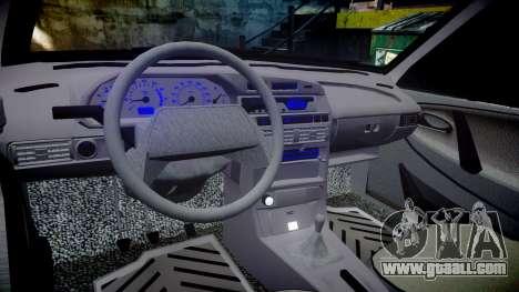 VAZ-2113 on the pneuma for GTA 4 inner view