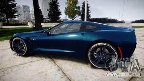 Chevrolet Corvette C7 Stingray 2014 v2.0 TirePi1 for GTA 4 left view