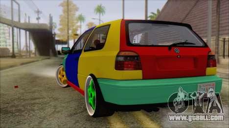 Volkswagen Golf Mk3 Harlequin Design for GTA San Andreas left view