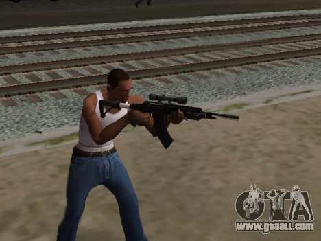 Heavy Sniper Rifle from GTA V for GTA San Andreas third screenshot