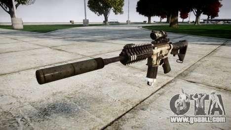 Автомат P416 ACOG silencer PJ1 target for GTA 4