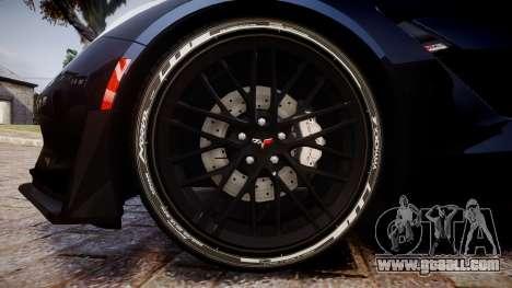 Chevrolet Corvette Z06 2015 TireYA3 for GTA 4 back view