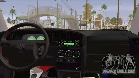 Volkswagen Golf Mk3 Harlequin Design for GTA San Andreas back left view