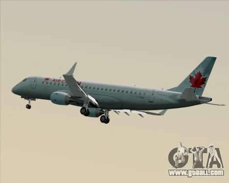 Embraer E-190 Air Canada for GTA San Andreas inner view