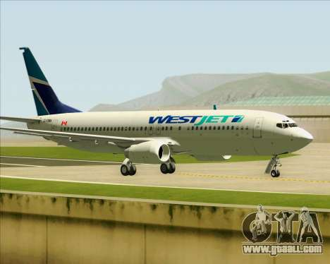 Boeing 737-800 WestJet Airlines for GTA San Andreas side view