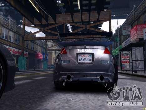 Nissan 350Z Tokyo Drift for GTA 4 back left view