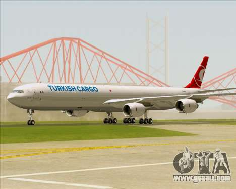 Airbus A340-600 Turkish Cargo for GTA San Andreas left view
