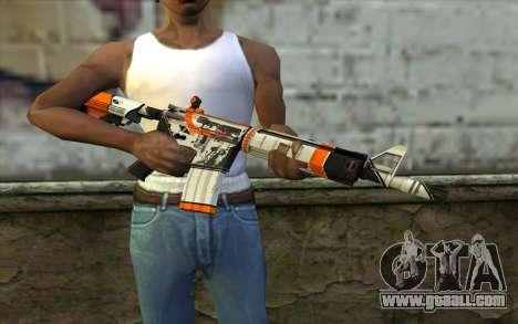 M4A4 from CS:GO for GTA San Andreas third screenshot