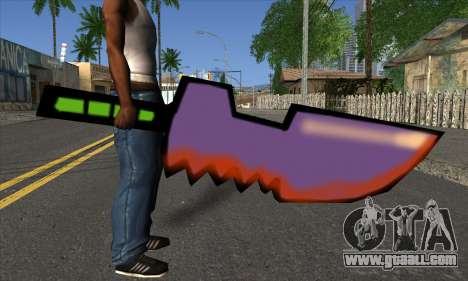 Cartoon sword for GTA San Andreas third screenshot