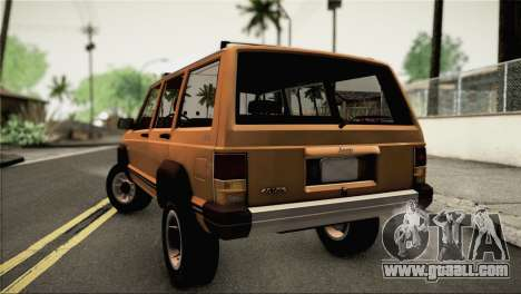 Jeep Cherokee for GTA San Andreas left view