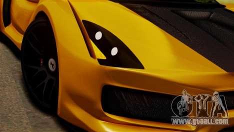 Ferrari Velocita 2013 SA Plate for GTA San Andreas back left view
