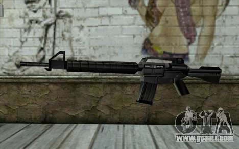 Retextured M4 for GTA San Andreas