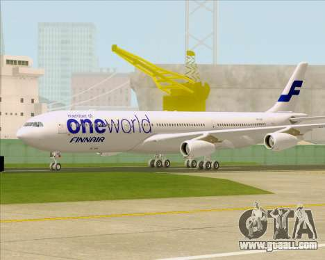Airbus A340-300 Finnair (Oneworld Livery) for GTA San Andreas left view