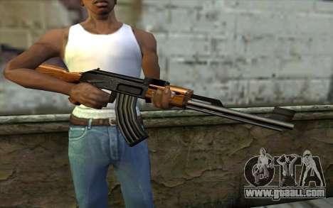 Retextured AK47 for GTA San Andreas third screenshot
