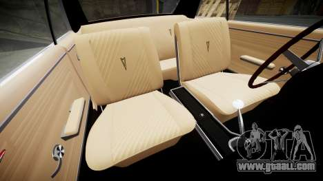 Pontiac GTO 1965 Sharpie for GTA 4 inner view