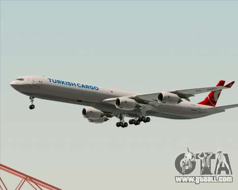 Airbus A340-600 Turkish Cargo for GTA San Andreas bottom view