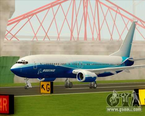 Boeing 737-800 House Colors for GTA San Andreas side view