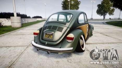 Volkswagen Beetle for GTA 4 back left view