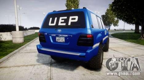 Toyota Land Cruiser 100 UEP blue [ELS] for GTA 4 back left view