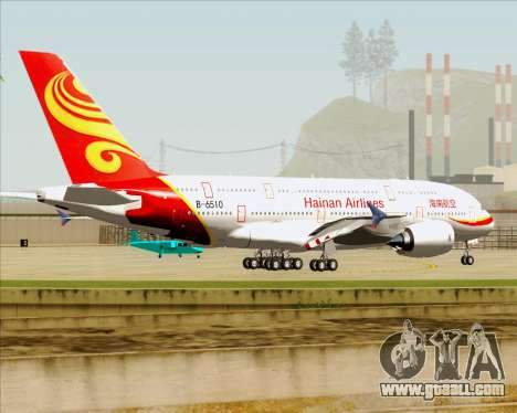 Airbus A380-800 Hainan Airlines for GTA San Andreas bottom view