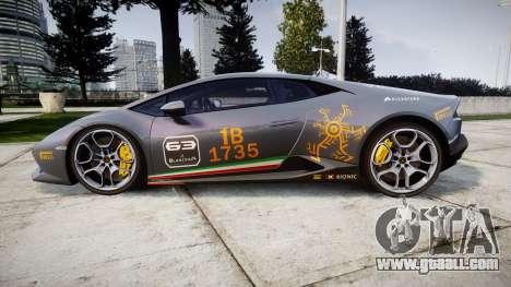 Lamborghini Huracan LP 610-4 2015 Blancpain for GTA 4 left view