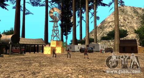 The Altruist camp on mount Chiliad for GTA San Andreas second screenshot