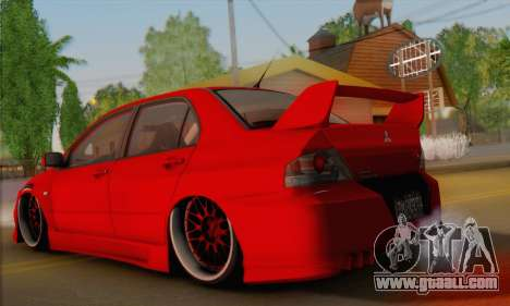 Mitsubishi Lancer Evo III for GTA San Andreas left view