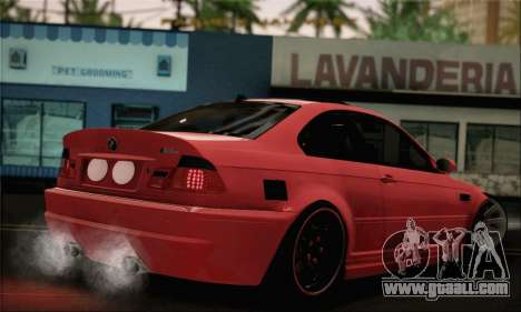 BMW M3 Coupe Tuned Version Burnout for GTA San Andreas left view