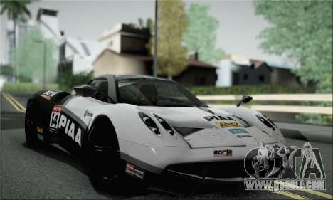 Pagani Huayra TT Ultimate Edition for GTA San Andreas side view