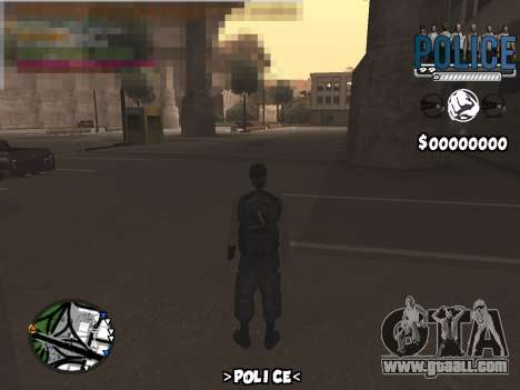 C-Hud Police for GTA San Andreas