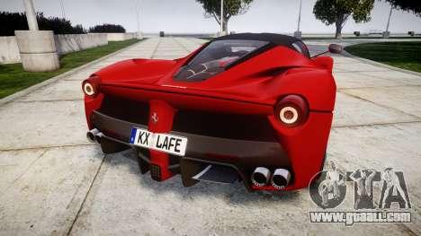 Ferrari LaFerrari 2014 [EPM] for GTA 4 back left view