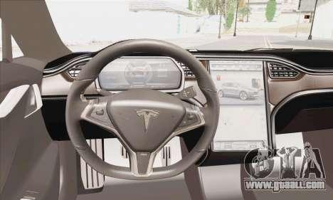 Tesla Model S 2014 for GTA San Andreas back left view