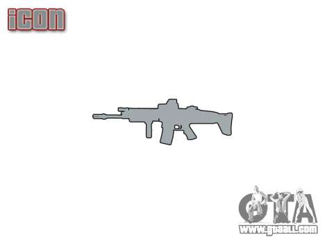 Machine FN SCAR-L Mk 16 icon1 for GTA 4 third screenshot