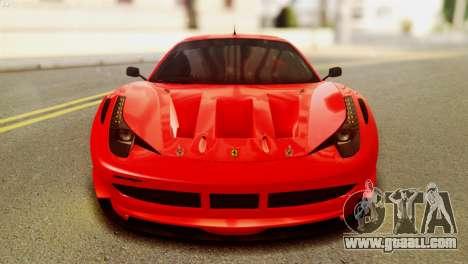 Ferrari 62 F458 2011 for GTA San Andreas right view