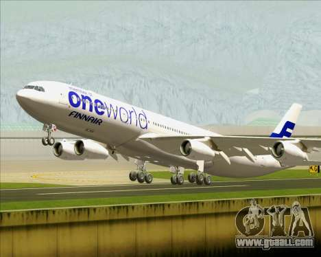 Airbus A340-300 Finnair (Oneworld Livery) for GTA San Andreas
