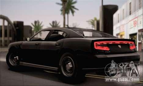 Bravado Buffalo S FIB for GTA San Andreas back left view
