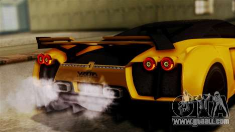 Ferrari Velocita 2013 SA Plate for GTA San Andreas right view