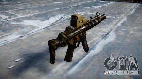 Gun MP5SD EOTHS CS c target for GTA 4 second screenshot