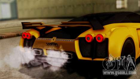 Ferrari Velocita 2013 SA Plate for GTA San Andreas inner view